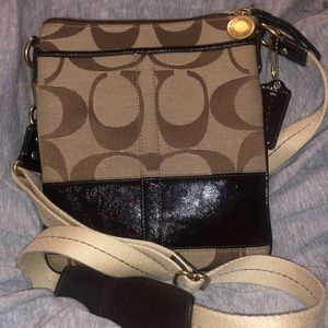 Coach Crossbody Messenger canvas and leather